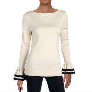 Lauren Ralph Lauren Bell Sleeve Striped Sweater